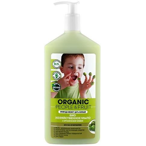 Organic People Био хозяйственное мыло Органическая олива 500 мл.