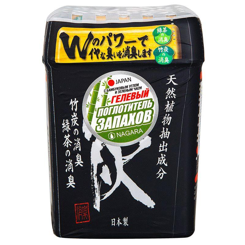 Nagara Поглотитель запаха гелевый с бамбуковым углем и зеленым чаем 320 г.