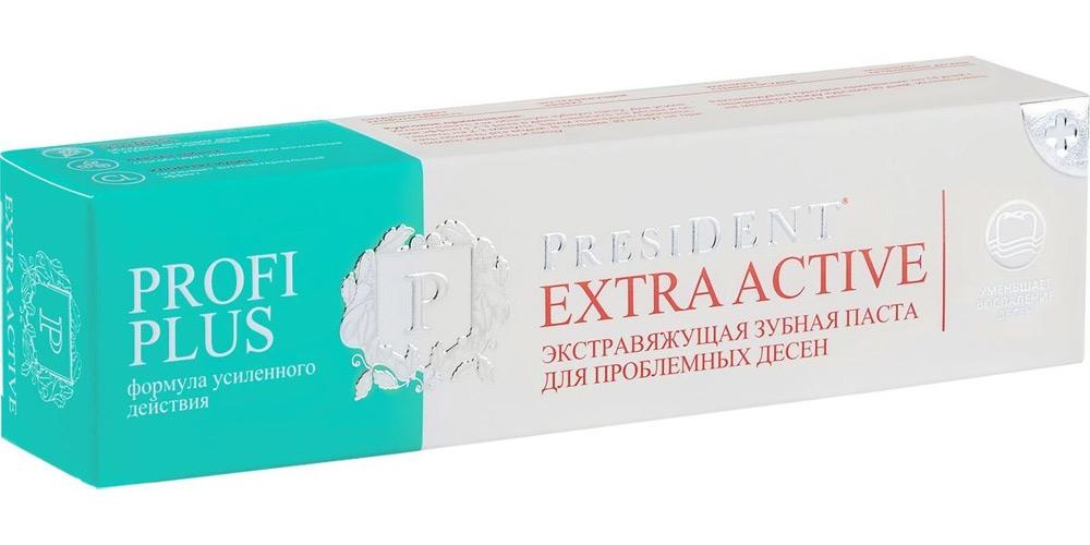 Купить President Profi Plus Зубная паста Extra Active экстравяжущая 30мл