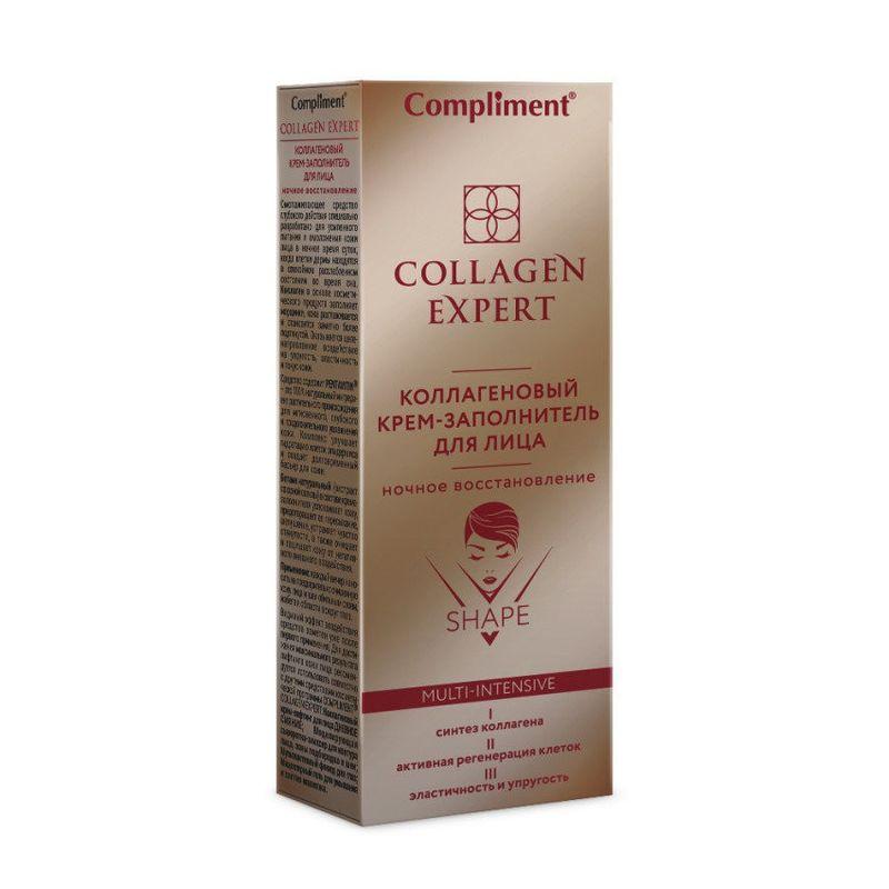 Купить Compliment Collagen Expert Коллагеновый Крем-заполнитель ночной для лица 50мл