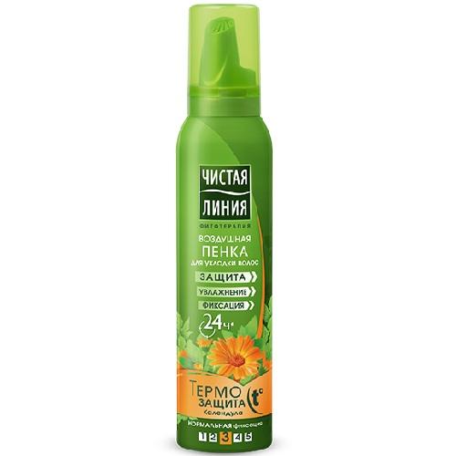 Купить Чистая Линия Пенка для укладки волос Термозащита 150мл, Чистая линия