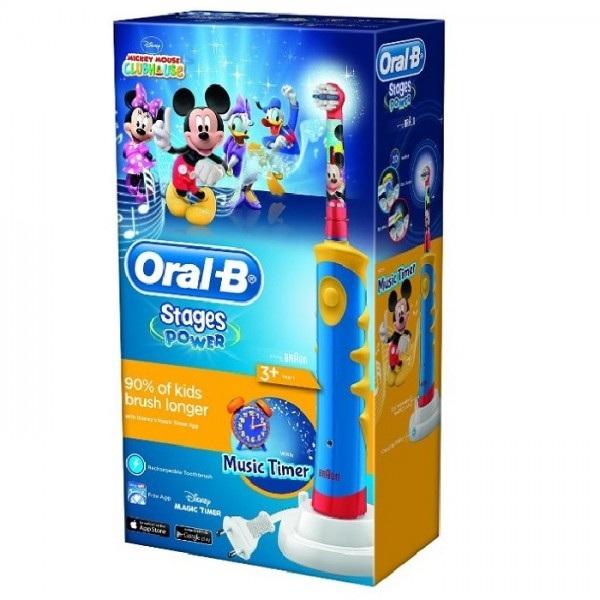 Oral-B Зубная щетка электрическая детская Mickey D10.513 (ТИП 3757)