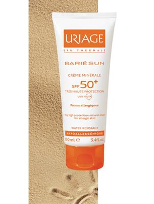 Uriage (Урьяж) Барьесан SPF50+ Минеральный солнцезащитный крем без отдушек для взрослых и детей 100 мл