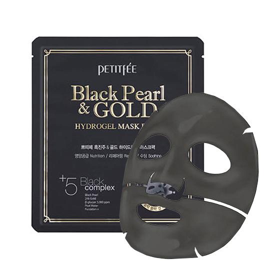 Купить Petitfee Маска для лица гидрогелевая BLACK PEARL & GOLD HYDROGEL MASK PACK 1 шт