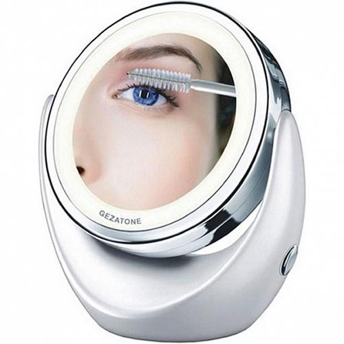 Жезатон/Gezatone косметическое зеркало с 5х увеличением и подсветкой (диаметр 13,4см) LM110