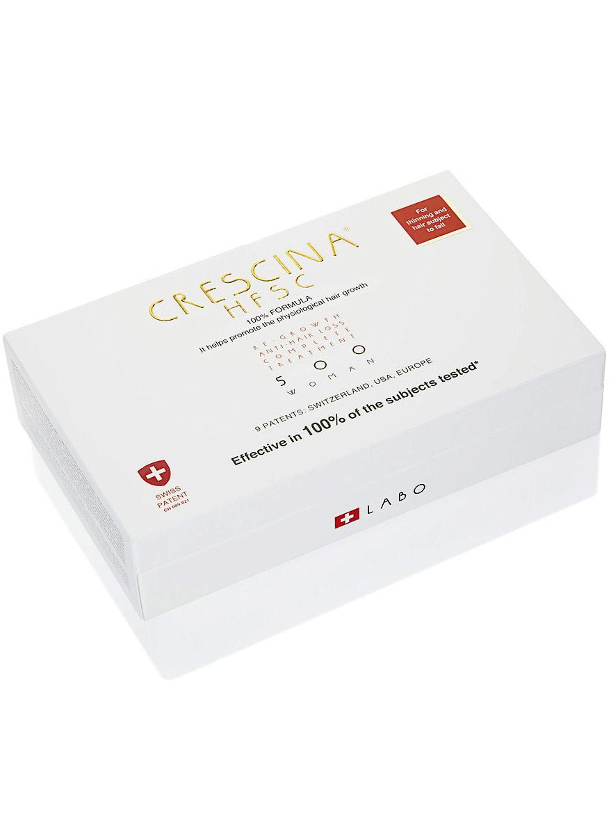 Купить Crescina Комплекс 500 для женщин Лосьон для стимуляции роста волос №10 + Лосьон против выпадения волос №10 3, 5 мл