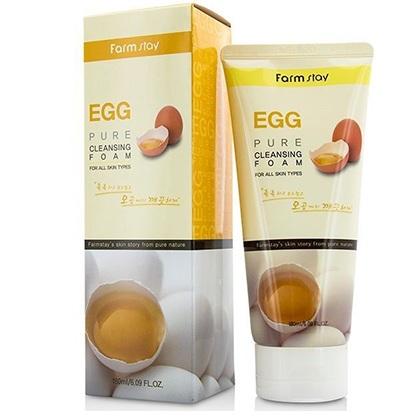 Купить FarmStay Пенка очищающая с яичным экстрактом 180мл, Farm Stay