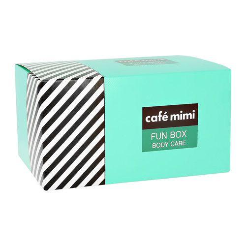 Купить Кафе Красоты Набор подарочный для ухода за телом FUN BOX крем 100мл + соль 100г + мыло 100г + мочалка