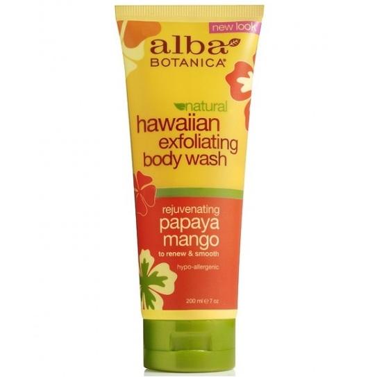 Alba Botanica Гавайский гель-эксфолиант для душа с папайей и манго 207 мл от Лаборатория Здоровья и Красоты