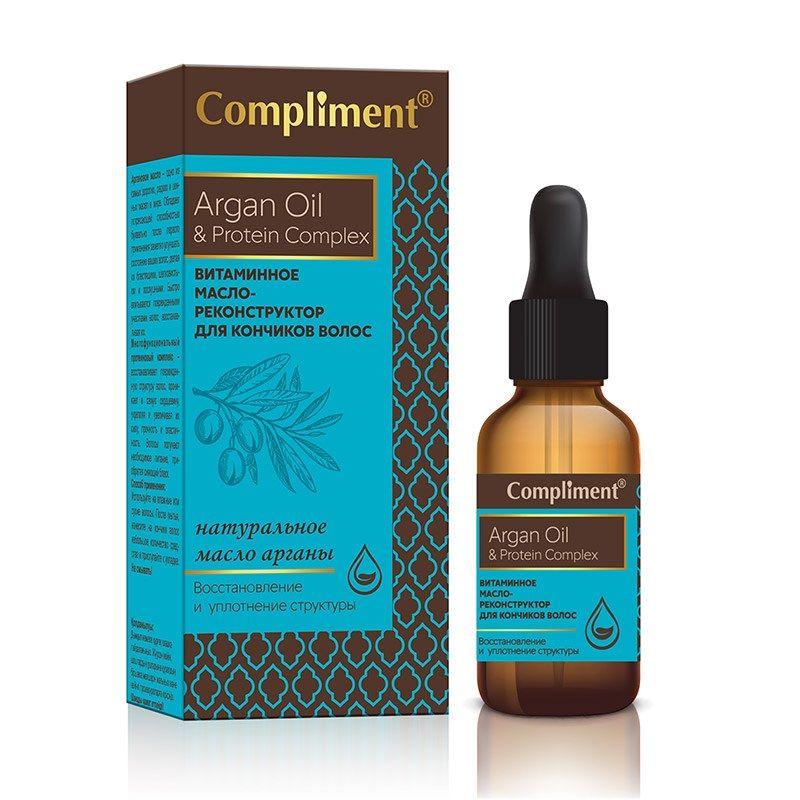 Compliment Argan Oil  Protein Complex Витаминное масло-реконструктор для кончиков волос 25мл