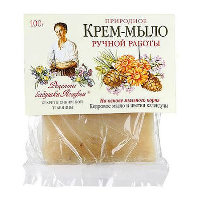 Рецепты Бабушки Агафьи Мыло Кедровое масло и календула 100г