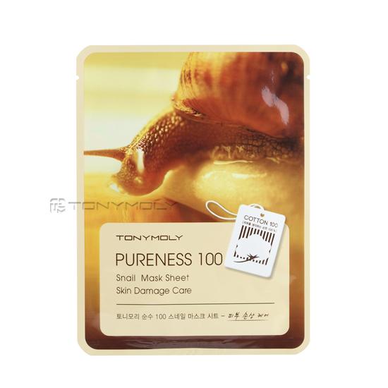 Тони Моли/Tony Moly Маска для лица  Pureness 100 Snail Mask Sheet от Лаборатория Здоровья и Красоты