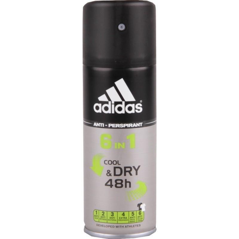 Adidas 6in1 Cool&Dry дезодорант-антиперспирант спрей для мужчин 150 мл от Лаборатория Здоровья и Красоты
