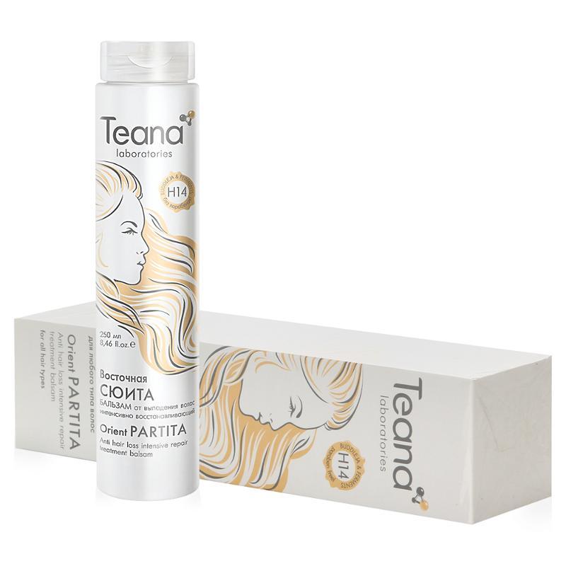 Teana/теана восточная сюита интенсивно восстанавливающий бальзам от выпадения волос с ферментами и клетками буддлея давидии 250 мл