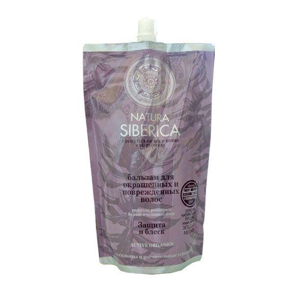 Купить Натура сиберика Бальзам для окрашенных и поврежденных волос Защита и блеск 500 ml, Natura Siberica