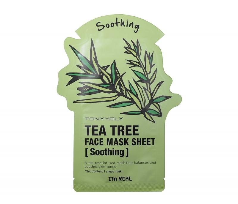Тони Моли/Tony Moly Маска для лица Im Real Tea Tree Mask Sheet