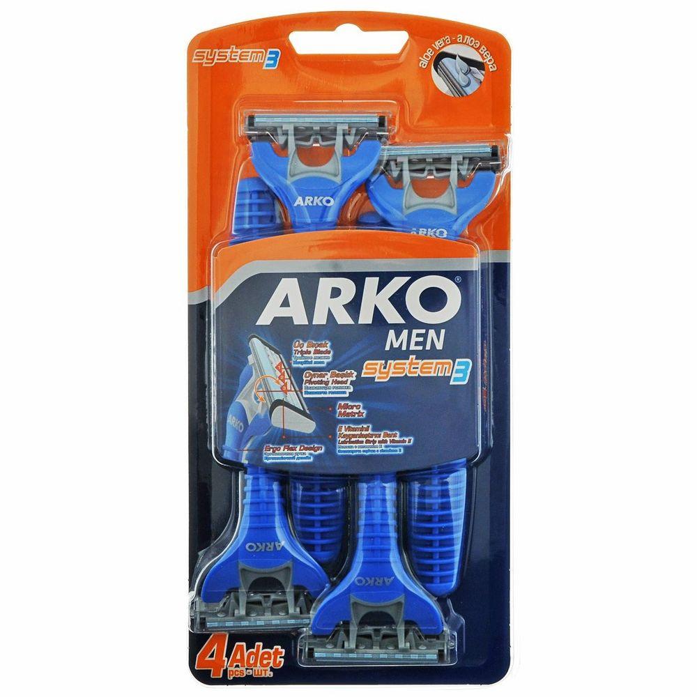 Arko MEN Станок для бритья System3 3 лезвия 4 шт от Лаборатория Здоровья и Красоты