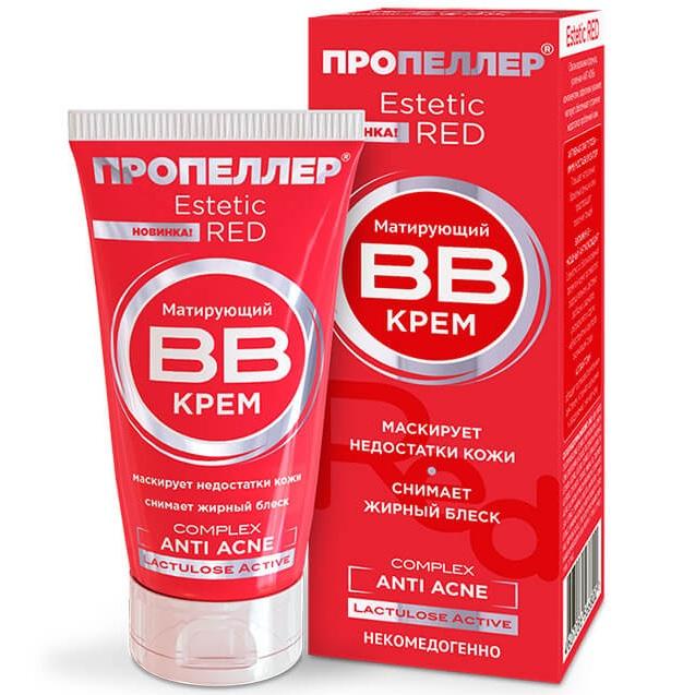 Пропеллер Estetic Red Матирующий BB крем Anti Acne Complex 40 мл от Лаборатория Здоровья и Красоты