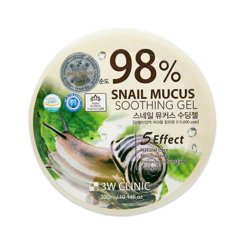 Купить 3W Clinic Гель универсальный Улиточный муцин Snail Soothing Gel 98% 300мл