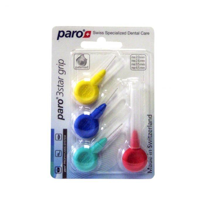 Paro 3Star-Grip Набор ершиков треугольной формы разного диаметра, 4 шт.