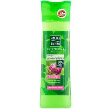 Чистая Линия Шампунь для окрашенных волос на отваре целебных трав Шелковистый блеск Клевер 400мл