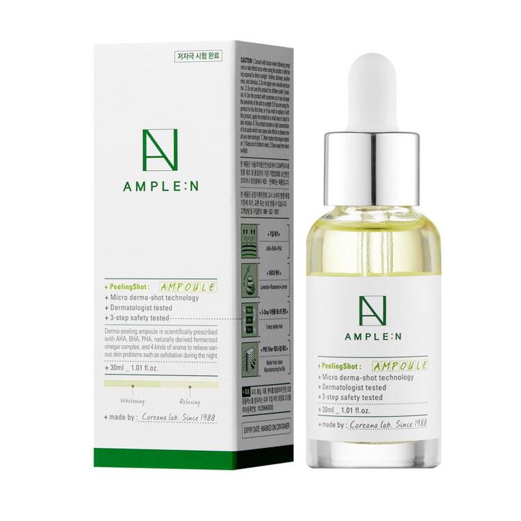 Купить Amplen Peeling Shot Ampoule Пилинг с комплексом кислот 30мл, AMPLE:N