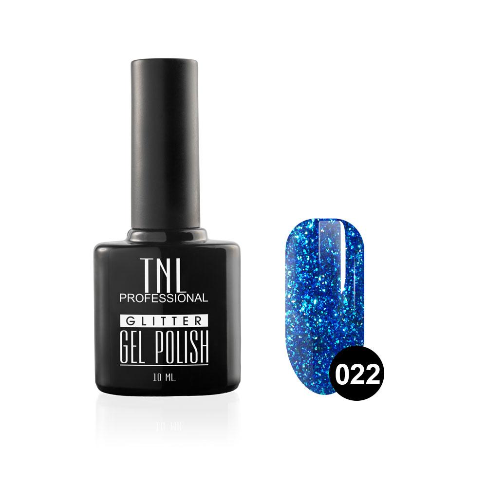 Tnl гель-лак glitter №22 - сапфировый