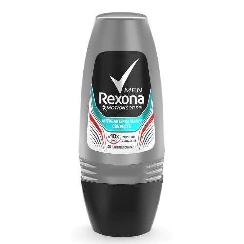 Rexona Антиперспирант део-ролик мужской Антибактериальная свежесть 50мл  - Купить