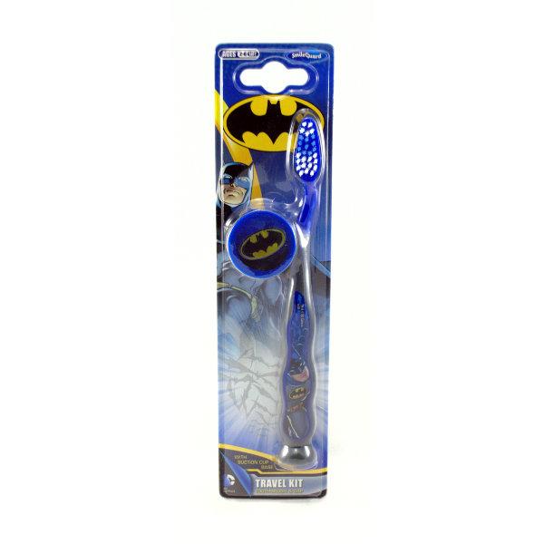 Batman Toothbrush with cap Travel Kit Детская зубная щетка с защитным колпачком  - Купить