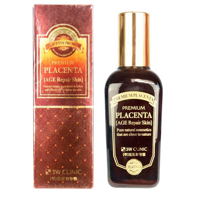 Купить 3W Clinic Плацента Скин-тоник для лица антивозрастной Premium placenta age repair skin 145мл