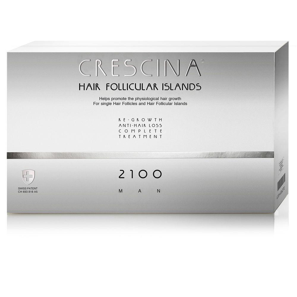 Лабо Кресцина 2100 для мужчин лосьон против выпадения волос Усиленная формула флаконы по 3,5мл №20+20 Crescina