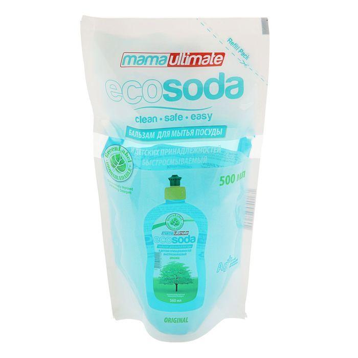Купить Mama Ultimate EcoSoda Бальзам для мытья посуды 500мл запасной блок
