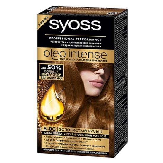 Syoss oleo intense краска для волос 6-80 золотистый