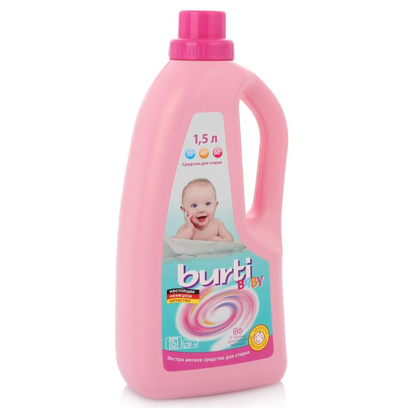 Burti Универсальное жидкое средство для стирки детского белья Burti liquid Baby 1.5л от Лаборатория Здоровья и Красоты