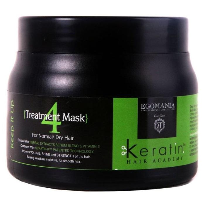Egomania Keratin Hair Academy Все под контролем маска для нормальных и сухих волос 500мл