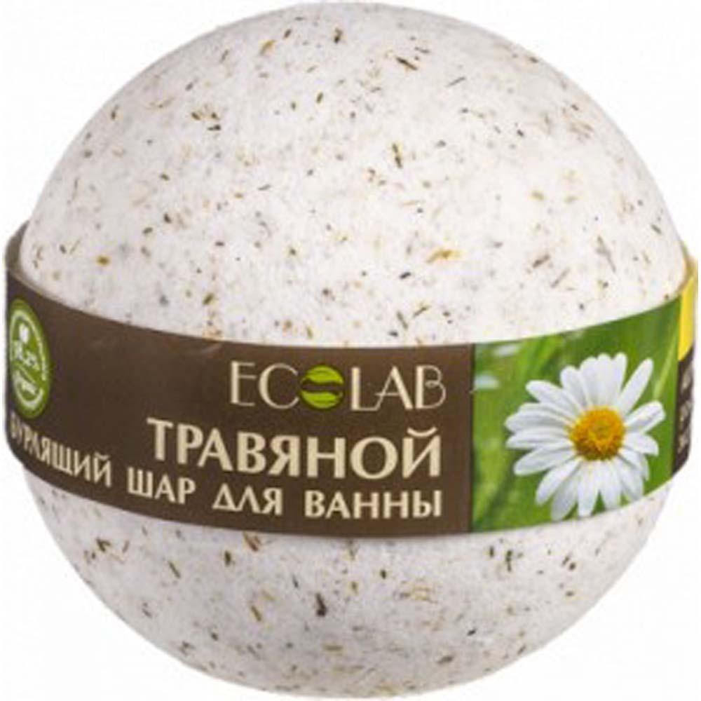 Эколаб Бурлящий шар для ванны Базилик и шалфей