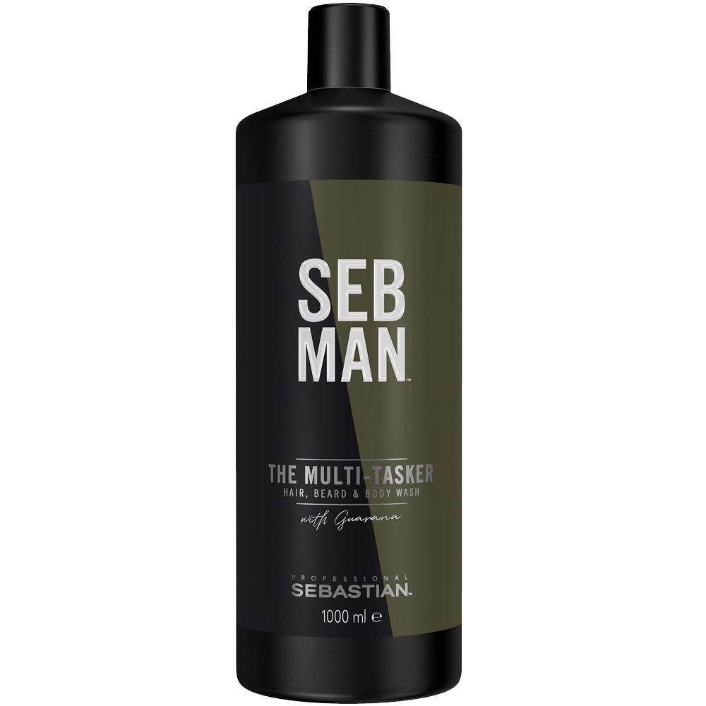Купить Sebastian SEBMAN THE MULTITASKER 3 в 1 Шампунь для ухода за волосами бородой и телом 1000мл, Sebastian Professional