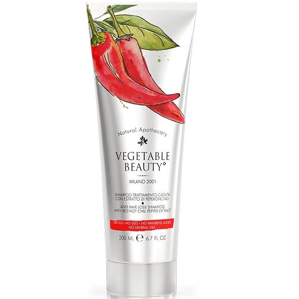Купить Vegetable Beauty шампунь против выпадения волос с экстрактом красного чили перца 200 мл