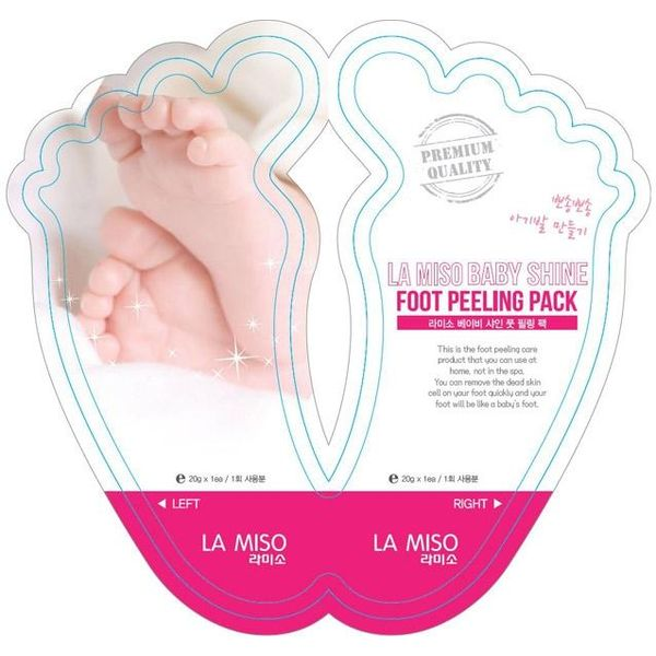 La Miso Baby Shine носки пилинг для ног 40гр