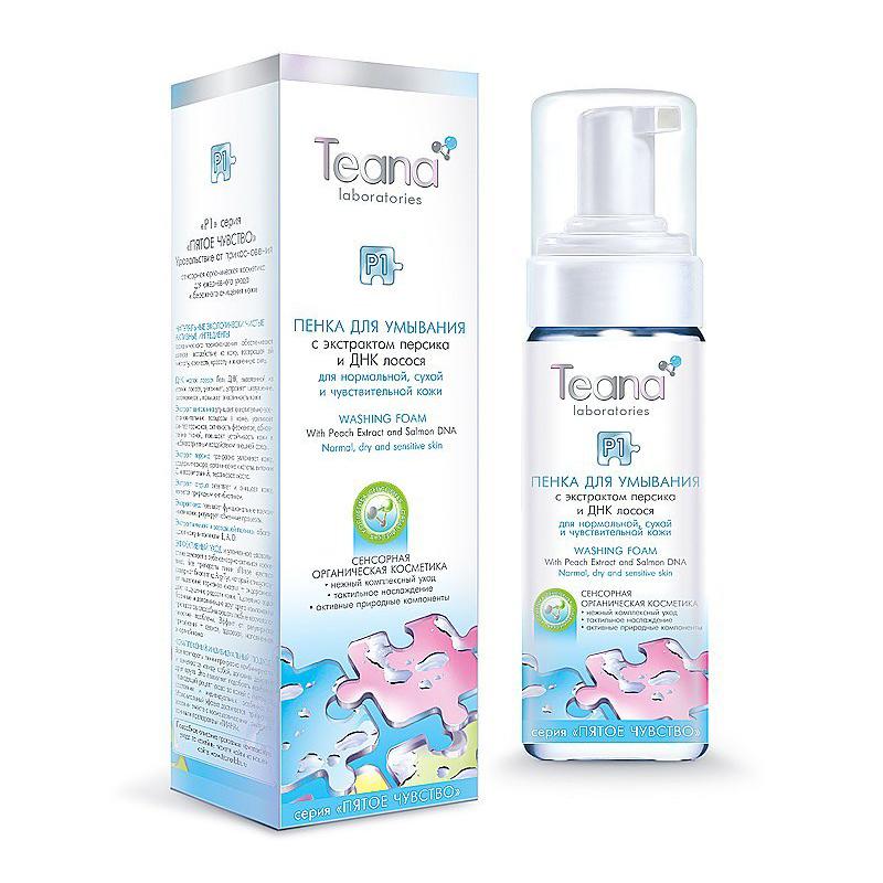 Teana/Теана Пенка для умывания с экстрактом персика и ДНК 150мл