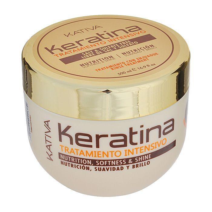Kativa Keratina интенсивный восстанавление уход с кератином для поврежденных и хрупких волос 500мл от Лаборатория Здоровья и Красоты