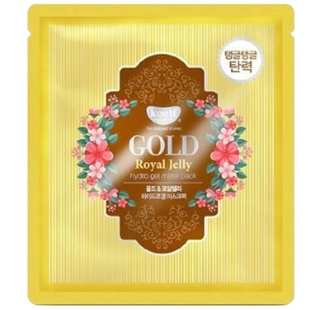 Купить Koelf Маска для лица гидрогелевая Золото и Маточное молочко GOLD & ROYAL JELLY MASK 1 шт