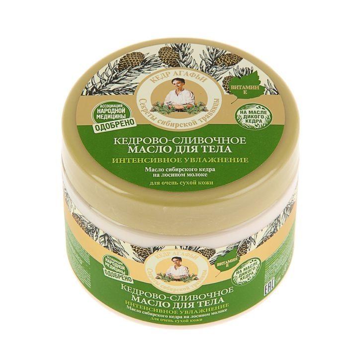 Купить Рецепты Бабушки Агафьи Масло для тела Интенсивное увлажнение Кедрово-сливочное 300мл, Рецепты бабушки Агафьи
