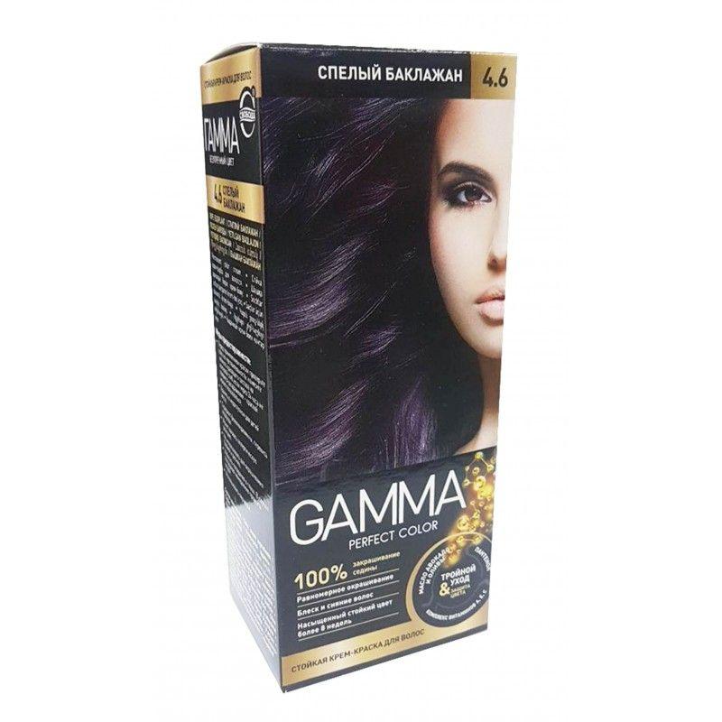 Купить Gamma Perfect Color Стойкая крем-краска для волос 4.6 спелый баклажан 50г
