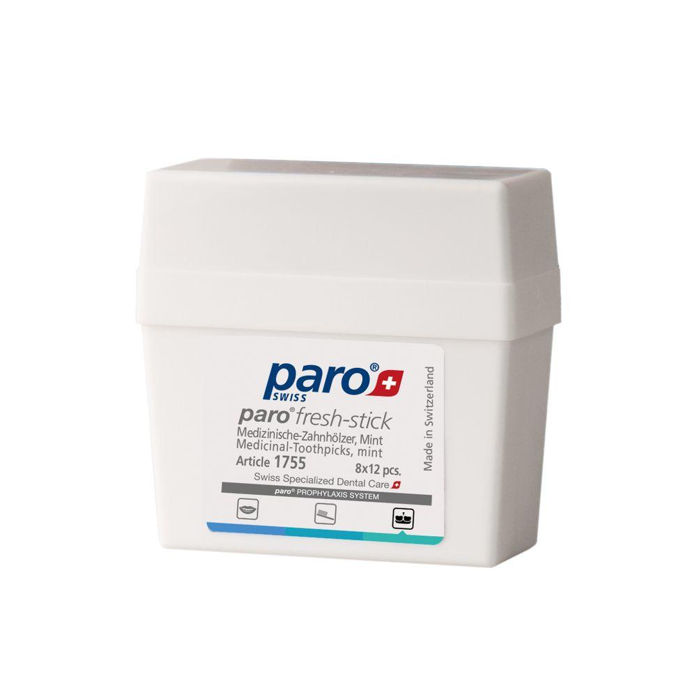 Paro Sticks Fresh Медицинские деревянные ароматизированные зубочистки, 96 шт