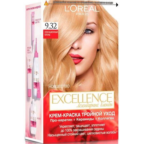 Лореаль excellence крем-краска для волос 9.32