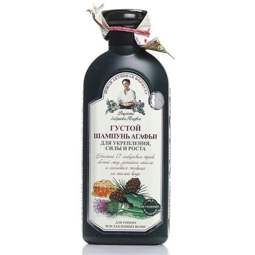 Купить Рецепты бабушки Агафьи Шампунь Агафьи Густой для тонких и ослабленных волос 350мл