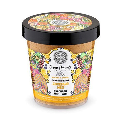 Натура Сиберика Crazy dessert Скраб-bio для тела Соленый мед подтягивающий 450 мл