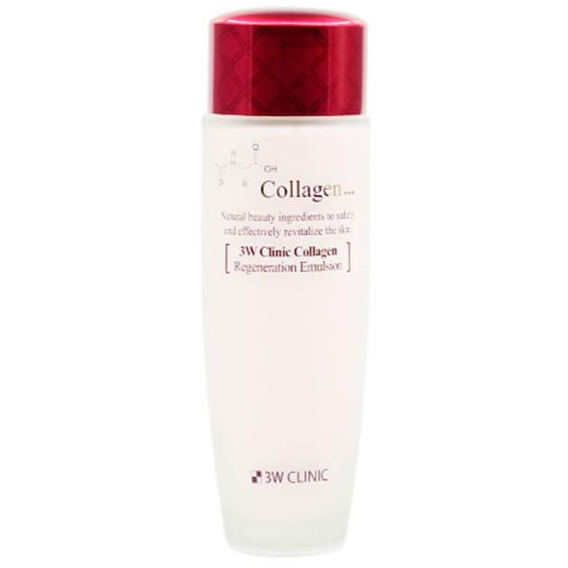 3W Clinic Лифтинг Эмульсия для лица с Коллагеном регенерирующий Collagen Regeneration Emulsion 150мл