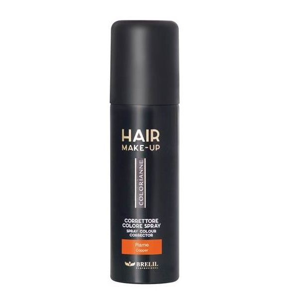 Купить Brelil Colorianne Спрей-макияж для седых волос Hair Make-Up медный 75 мл, Brelil professional
